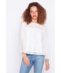 Blouse en dentelle Blanc Coton - Femme Taille 1 - Cache Cache