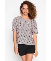 Blouse motif graphique multicolore Rose Polyester - Femme Taille 1 - Cache Cache