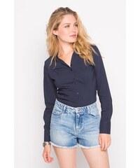 Chemise cintrée en stretch Bleu Coton - Femme Taille 0 - Cache Cache