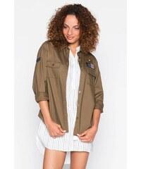 Chemise façon militaire patchs Vert Coton - Femme Taille 4 - Cache Cache