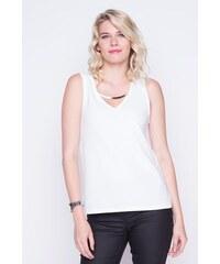 Débardeur col bijou argenté Blanc Polyester - Femme Taille 3 - Cache Cache