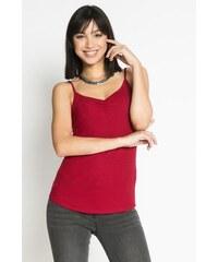 Débardeur fines bretelles motif rayé Rouge Viscose - Femme Taille 0 - Cache Cache