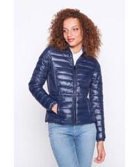 Doudoune fine unie aspect brillant Bleu Polyester - Femme Taille 1 - Cache Cache