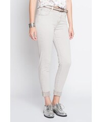 Jean skinny avec ceinture Beige Polyester - Femme Taille 34 - Cache Cache