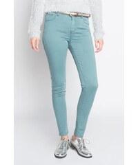 Jean skinny avec ceinture Vert Polyester - Femme Taille 34 - Cache Cache
