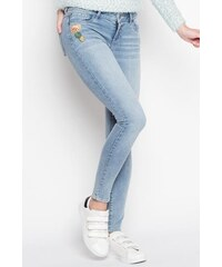 Jean skinny badgé Bleu Elasthanne - Femme Taille 34 - Cache Cache