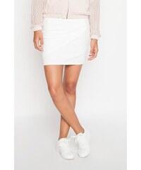 Jupe avant asymétrique unie Blanc Polyester - Femme Taille 36 - Cache Cache