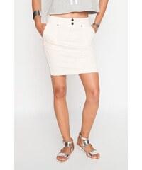 Jupe droite cargo grandes poches Beige Coton - Femme Taille 34 - Cache Cache