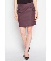 Jupe tissu enduit surcoutures Violet Elasthanne - Femme Taille 34 - Cache Cache