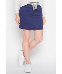 Jupe unie ceinture ethnique Bleu Coton - Femme Taille 34 - Cache Cache