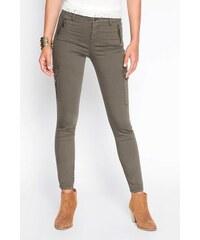 Pantalon chino poches latérales Vert Coton - Femme Taille 34 - Cache Cache