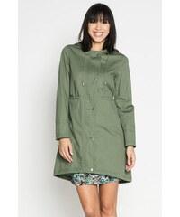 Parka unie poches élastiquées Vert Coton - Femme Taille 1 - Cache Cache
