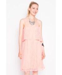 Robe maille ajourée motif végétal Rose Elasthanne - Femme Taille 36 - Cache Cache