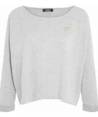 Sweat cropped Oora texte dos Gris Coton - Femme Taille 0 - Cache Cache