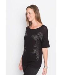 Top cintré studs Noir Viscose - Femme Taille 0 - Cache Cache