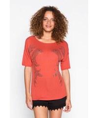 Top cintré studs Rouge Viscose - Femme Taille 0 - Cache Cache