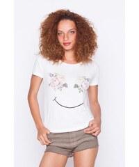 Top print fleurs Blanc Viscose - Femme Taille 0 - Cache Cache