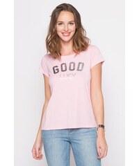 T-shirt imprimé argenté Rose Modal - Femme Taille 0 - Cache Cache