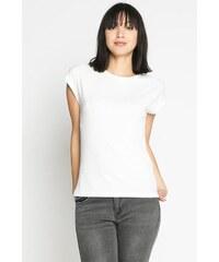 T-shirt maille chinée coupe cintrée Blanc Polyester - Femme Taille 0 - Cache Cache