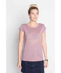 T-shirt maille moulinée détails dorés Violet Coton - Femme Taille 0 - Cache Cache