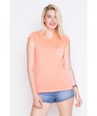 T-shirt maille moulinée imprimé placé Rose Coton - Femme Taille 0 - Cache Cache