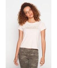 T-shirt message jalouse Rose Coton - Femme Taille 0 - Cache Cache