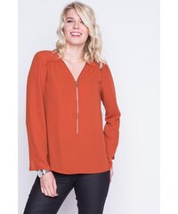 Tunique city col zippé Orange Polyester - Femme Taille 0 - Cache Cache