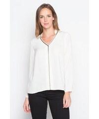 Tunique liserés dorés Blanc Polyester - Femme Taille 0 - Cache Cache