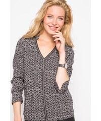 Tunique manches longues imprimée Noir Polyester - Femme Taille 1 - Cache Cache