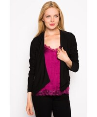 Veste blazer unie à pans Noir Elasthanne - Femme Taille 0 - Cache Cache