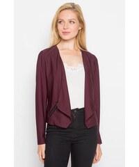 Veste blazer unie à pans Violet Elasthanne - Femme Taille 0 - Cache Cache