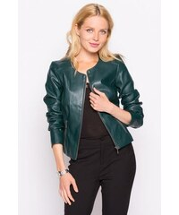 Veste simili-cuir uni Vert Polyurethanne - Femme Taille 1 - Cache Cache