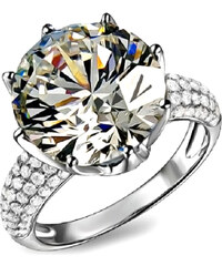 Lesara Ring im Kronen-Design - Silber - 52