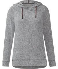Cecil - T-shirt à capuche sportif - dark silver