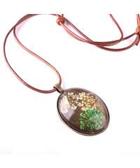 Lesara Halskette mit mehrfarbigen Gräserblüten - Grün