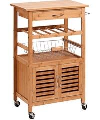 ZELLER Küchenrollwagen »Bamboo«, 60x36x88 cm