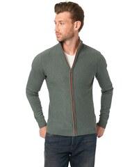 TOM TAILOR Strickjacke »patch work zip jacket«