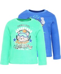 Jacky Baby 2 PACK Langarmshirt jeansblau/dunkelgrün