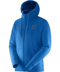 MIKINA SALOMONINEAR PATTERN FZ HOODIE union blue/midnight blue union blue/midnight blue