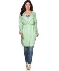 Große Größen: sheego Trend Blusen-Mantel, apfelgrün, Gr.40-58
