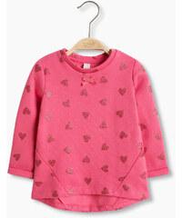 Esprit Sweat-shirt en coton mélangé à cœurs