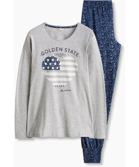 Esprit Pyjama en jersey imprimé, coton mélangé