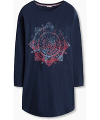 Esprit Žerzejová noční košile, potisk, 100% bavlna