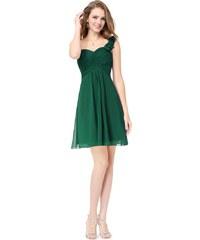 Ever Pretty šifonové šaty krátké zelené 3535 a38a1526ea3