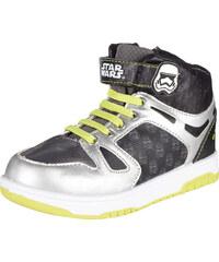 Star Wars-The Clone Wars Sneaker high silber in Größe 30 für Jungen aus 100% Polyester