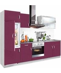 Küchenzeile Amrum Breite 280 cm Baur lila