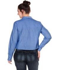 SHEEGO TREND Damen Trend Hemdbluse blau 42,44,46,48,50,52,54,56,58