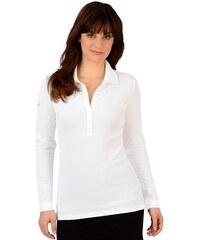 TRIGEMA Damen TRIGEMA Langarm Polo-Shirts mit Swarovski Kristallen weiß L,M,S,XL,XXL