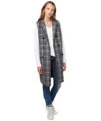 Damen Weste check wool vest TOM TAILOR DENIM grau L,M,S,XL,XS
