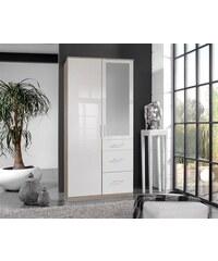 wimex Kleiderschrank struktureichefarben hell/weiß Hochglanz